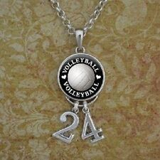 Volleyball Necklace/ custom number
