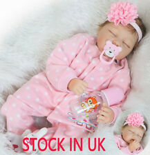 """22"""" Realistic Silicone Lifelike Baby Doll Toddler Soft Baby Handmade Doll"""