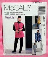 Uncut McCalls Misses 16-20, 3 Hour Jacket Pull-On Pants Vest Pattern 2396 Fleece