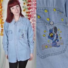 Maglie e camicie vintage da donna blu
