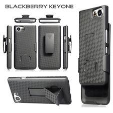 For BlackBerry KEYone Holster + Case Cover Belt Clip Kickstand Slim Light Black