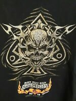 Mens 2013 Sturgis Black Hills 73rd Rally T-Shirt Skull Double Sided Print Size L