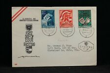 Austria: 1950 10/10 #B269-71 First Day Cover to the USA