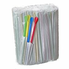 200 Individually Wrapped Spoon Straws, Great for Shaved Ice or Sno Cones