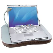 Portable Reading Laptop Cushion Lap Top Tray Table With 5 LED Light Cup Holder