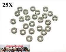 25X Lego® 4265a /b Technic Stopper Buchse Bush gezahnt altes Hellgrau Gray