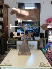 New listing Vintage Steel Cow Weather Vane & Cupola-33.5x31x17.25�-1 6 Pounds!