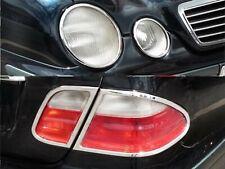 MERCEDES CLK W208 A208, C208 Chrome Headlight and  Rear Light Trim 1997 to 2002