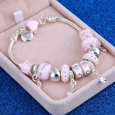 925 Sterling Silver Beaded Bracelet Women Bangle Charm Ladies Jewellery Gift