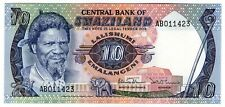 **   SWAZILAND     10  emalangeni   1985   p-10c    UNC   **