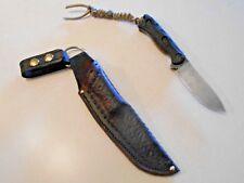 Handmade Leather dangler style sheath for Ka Bar Becker BK 16