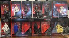 Star Wars Black Series Rey Kylo Snoke Throne Room Guard 4 pack LOT of 12 6 inch