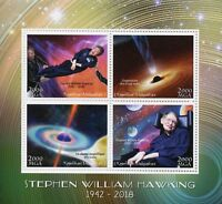 Madagascar 2018 MNH Stephen William Hawking 4v M/S Science Physics Space Stamps