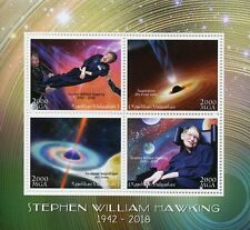 More details for madagascar 2018 mnh stephen william hawking 4v m/s science physics space stamps
