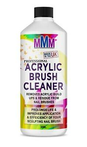 Acrylic Nail Brush Cleaner POWERFUL Liquid Cleaner for Acrylic Brushes 30ml *UK