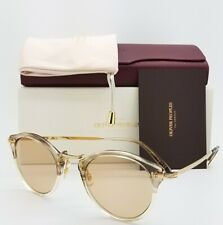 NEW Oliver Peoples OV5184 1647 47 Military 18k Gold Brown Wash AUTHENTIC Round