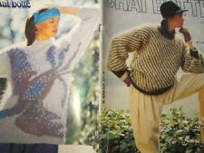 Chat Botte Knitting Book #17-Butterflies/Bird/Peacock/Tulips/Mohairs/Mens-All Sh