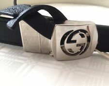 Authentic GUCCI REVERSIBLE black/white Leather Belt NEW WITH TAGS