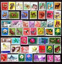ZY1209 SUISSE 50T: animaux sauvages et domestiques,papillons,fleurs et montagnes