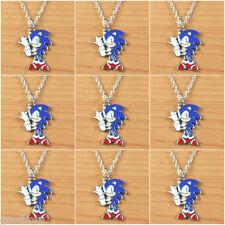 9pcs Sonic the Hedgehog Metal Enamel Charm Pendants Necklaces Boy birthday gifts