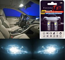LED 3030 Light White 6000K 168 Two Bulbs Front Side Marker Parking Replace JDM