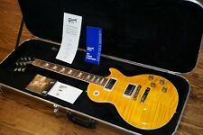 2015 Gibson Les Paul Standard EUC Color Trans Amber with cherry back