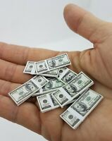 Doll House Accessories 1:12th Miniature - 2 Sheets of  US 100 Banknotes