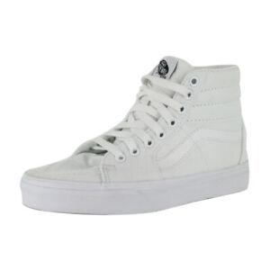"Vans ""Sk8-Hi"" Sneakers (True White) Men's Canvas Skateboarding High-Top Shoes"