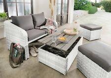 Destiny Lounge Jersey II Gartenmöbelset Loungeset Weiß 4tl Sitzgruppe Polyrattan