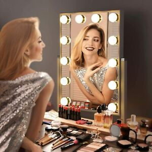 9/12 LED Hollywood Mirror Dressing Table Vanity Make up Mirrors Light Magnifying