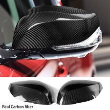 Carbon Fiber Rearview Mirror Cover Cap Fit For 14-2020 INFINITI Q50 Q60 Q70 QX30