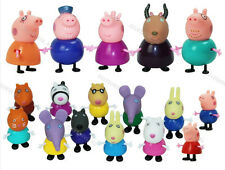 17pcs Peppa Pig Grandpa Grandma Family & Friends Ms Gazelle Toys 2017 Kids Gift