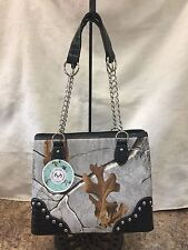 Concealed Carry Purse Realtree Camouflage New Glacier Gray Handbag No Bling