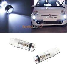 HID Light Blue 8K 7443 20-CREE LED Bulbs For Fiat 500 Daytime Running Lights