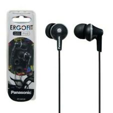 Panasonic RP-HJE125-K ErgoFit In-Ear Earbuds 3.5 MM Jack BLACK Same Day Shipping