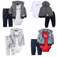 Winter Newborn 9 12 18 24 Months Cardigan Pants Set For Baby Boy Clothes Outfit