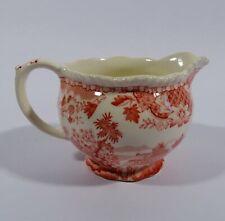 Woods Burslem Seaforth Rot Milchkännchen Sahnegiesser Keramik England
