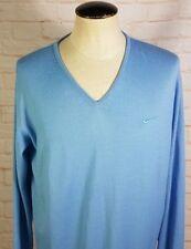 Nike Golf Men's V-Neck Sweater Pullover Royal Blue Wool Blend Swoosh Men's Large