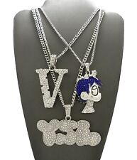 NEW ICED OUT LIL UZI VERT 3 CHAIN SET