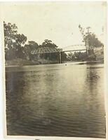 SCARCE c1920 PHOTO OF THE McINTYRE RIVER & BRIDGE, QLD.