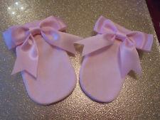 1pr ROMANY BABY GIRL PINK  SCRATCH MITTENS  0 - 3 KUSHTI :)