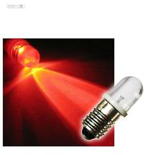 10 E10 LED-Lampen Schraubsockel ROT 12V LEDs BIRNE RED