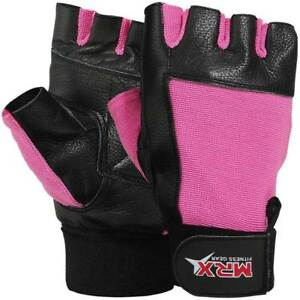 Womens Weightlifting Gloves Leather Ladies Gym Fitness Training Bodybuilding MRX