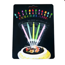 Lot 5 Pcs New Birthday Cake Candles Colored Angel Flame Safe Party Decor Hot