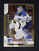 2017-18 17-18 O-Pee-Chee OPC Platinum Marquee Rookie #186 Ville Husso RC