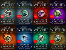 The Witcher Series Andrzej Sapkowski 8 Books Collection Set New Covers Netflix