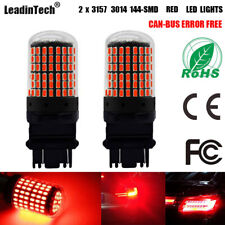 2x 3157 Red Canbus Error Free LED Light 3457 Stop Tail Parking Lights 3057 Bulb