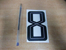 GUY MARTIN race number 8 - Black & White Sticker / Decal 100mm