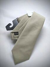 NEW PRIVATE WHITE V.C. Hand Made in England Cotton Solid Stone Tan Tie NWT