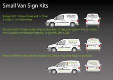 Small Van Vehicle Custom Graphics Sign Writing Kit Custom premium quality